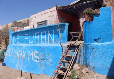 Rustic Restaurant at Surfing Resort, Morocco