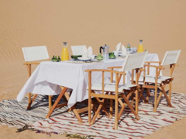 Berber Hospitality Alfresco Dining For Four in Moroccan Desert