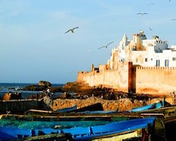 The Fortress Castle at Essaouira Port, Morocco