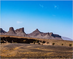 View of the Mountains from Merzouga Desert, Morocco