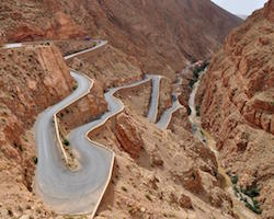 Winding Mountain Road Dades Gorge Morocco