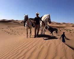 Trekkiing with Horses in the Sahara Desert Morocco