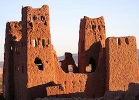 Red Brick Kasbah Buildings Morocco Sahara