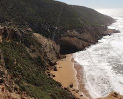 Small Sandy Beach on Morocco Coastline