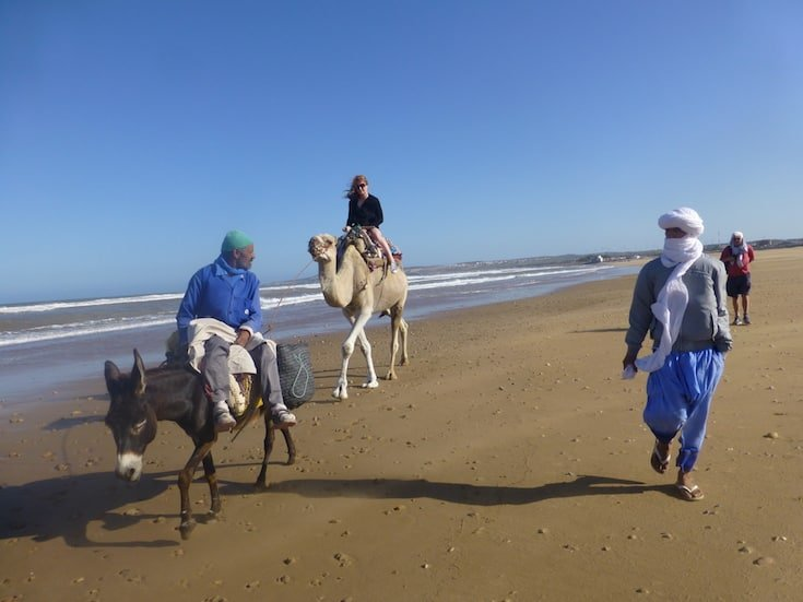 beach-camel-trekking-morocco-www.moroccanjourneys.com