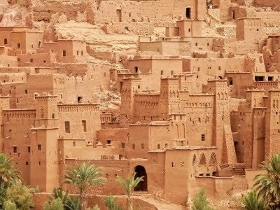 The Ksar of Ait-Ben-Haddou, fortified tribal village, located in the foothills of the Atlas Mountains, Ouarzazate, Morocco